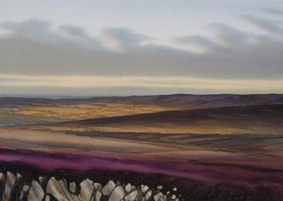 Autumn shadows the Peak District original Watercolour lndscp size approx 52cm x 38cm SOLD