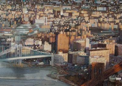 Connections Manhattan original watercolour image size approx 52cm x 38cm for sale £1995