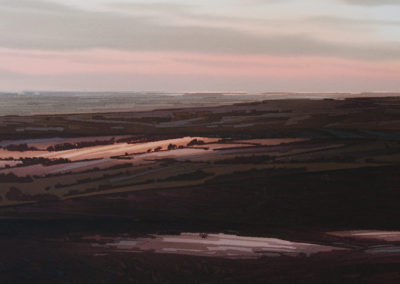 Evening Shadows Peak District original Watercolour image size approx 52cm x 39cm SOLD