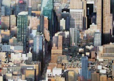 Gridlock Manhattan original watercolour image size approx 74cm x 53cm SOLD