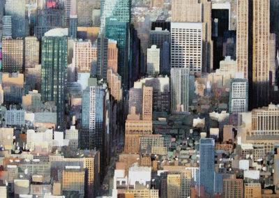 Gridlock Manhattan original watercolour image size approx 74cm x 53cm SOLD