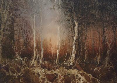 Grizedale Forest original watercolour image size approx 74cm x 53cm SOLD
