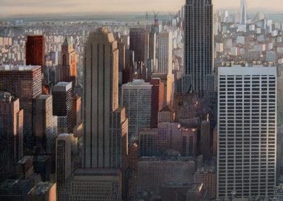 Highlight Manhattan original watercolour image size approx 74cm x 53cm SOLD