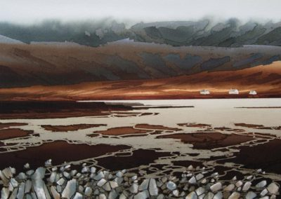 Mountain mist Isle of Skye original Watercolour image size approx 52cm x 39cm SOLD
