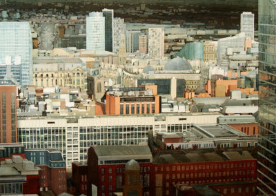 Northern Edge Manchester original watercolour image size approx 69cm x 68cm for sale £3500 SOLD