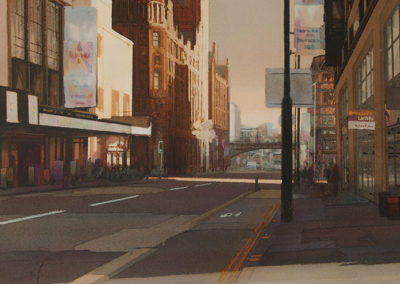 The Palace Theatre, Oxford Street, Manchester original watercolour image size approx 63cm x 44cm