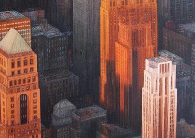 Urban Forest Manhattan original watercolour image size approx 74cm x 53cm SOLD