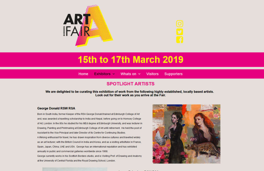 The Borders art fair exhibition march 2019