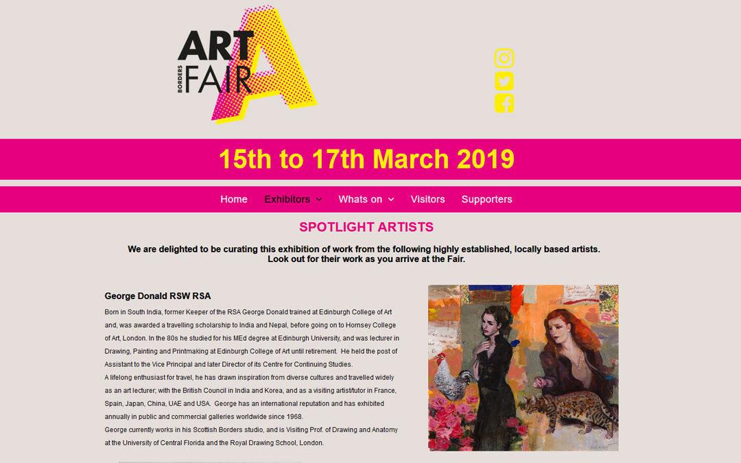 The Borders art fair exhibition march 2019